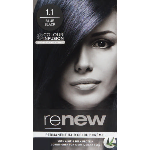 Colour Infusion Permanent Hair Colour Creme Blue Black 1.1