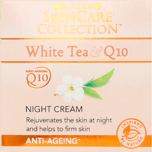 White Tea & Q10 Anti-Ageing Night Cream 50ml
