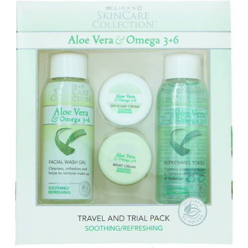 Clicks Skincare Collection Aloe Vera & Omega 3+6 Soothing