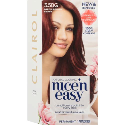 Clairol Nice N Easy Permanent Hair Colour Natural Dark Burgundy