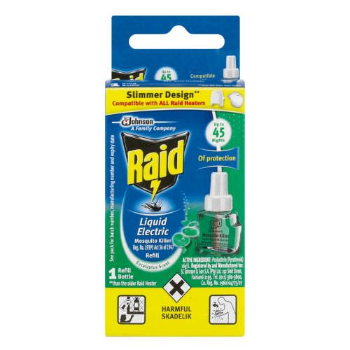 Raid Liquid Electric Mosquito Killer Refill Eucalyptus 33ml Clicks