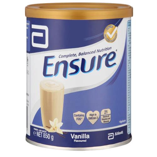 03f6d02e14 Ensure Nutrition Shake Vanilla 850g - Clicks