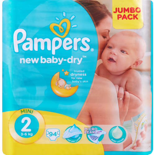 New Baby-Dry Size 2 Jumbo Pack 94 Nappies