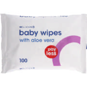 Baby Wipes With Aloe Vera 100 Wipes