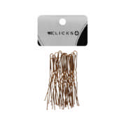 Essentials Wavy Hairpins Brown 75mm 20 Pack