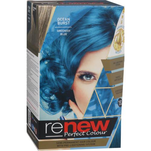 Renew Perfect Colour SemiPermanent Hair Colour Kit Ocean Burst - Hair colour in blue