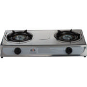 2 Plate Gas Stove Stainless Steel