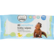 Sensitive Baby Wipes 80 Wipes