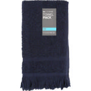 Fringed Guest Towel Set Navy 2 Piece