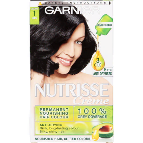 Nutrisse Creme Permanent Nourishing Hair Colour Liquorice Black 1