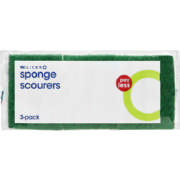 Pay Less Sponge Scourers 3 Pack