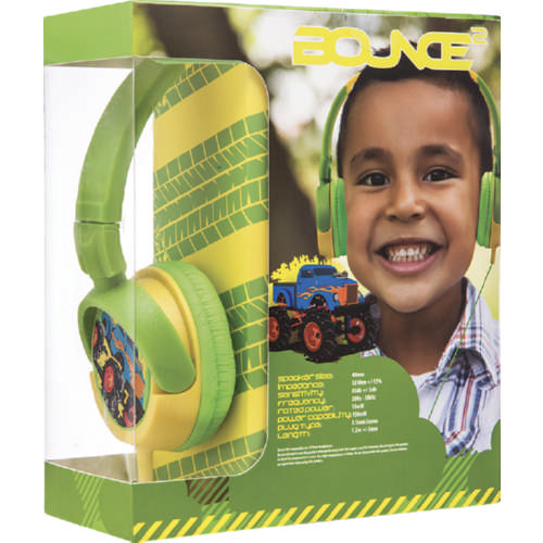 Kiddies Boys Headphones Monster Truck
