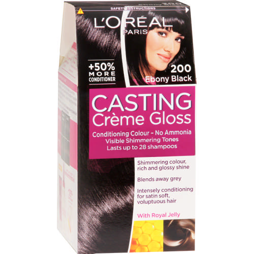 L Oreal Casting Creme Gloss Conditioning Hair Colour Ebony Black 1
