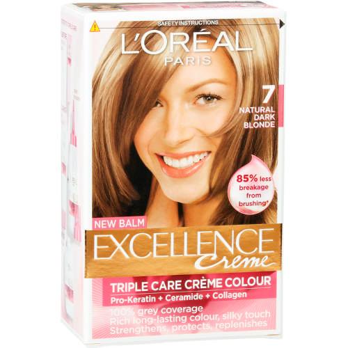 Loreal Excellence Creme Hair Colour 7 Natural Dark Blonde 1