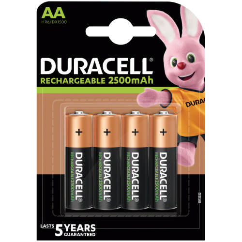 Rechargeable Batteries AA 2500mAh - 5yr