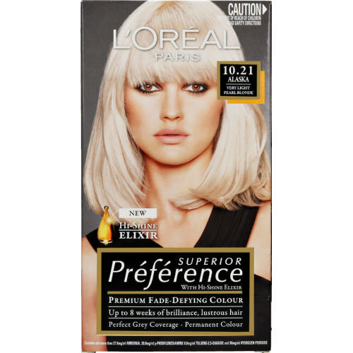 Superior Preference Permanent Hair Colour Light Pearl Blond 10.21