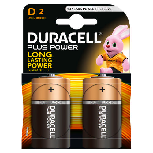 Power Plus D Alkaline Batteries 2 Batteries