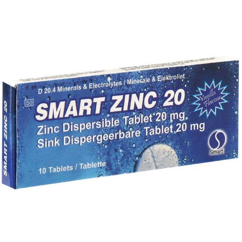 Smart Zinc 20mg Dispersible Tablets 10 Tablets Clicks