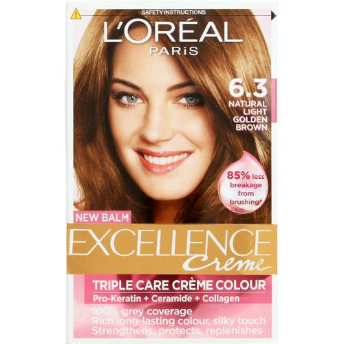 loreal excellence creme hair colour natural light golden