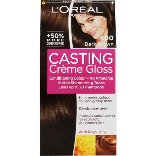 Casting Creme Gloss Semi-Permanent Conditioning Colour Dark Brown 400