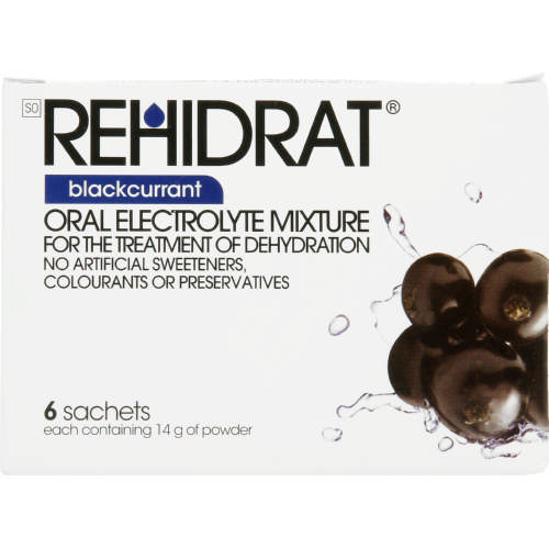 Oral Electrolyte Mixture Blackcurrant 6 Sachets