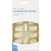 Natural Nail Tips With Glue 100 Piece