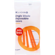 Payless Single Blade Disposable Razors 5 Pack