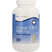 Omega 3 & 6 1000mg 300 Softgel Capsules