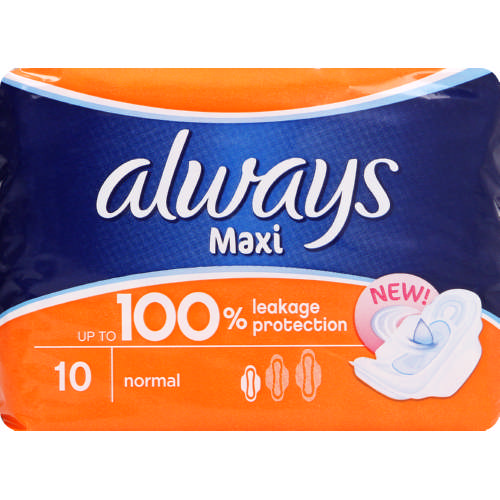 Maxi Sanitary Pads Normal 10 Pads