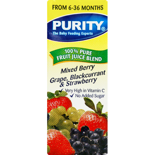 Pure Fruit Juice Blend Mixed Berry Grape, Blackcurrant & Strawberry 200ml