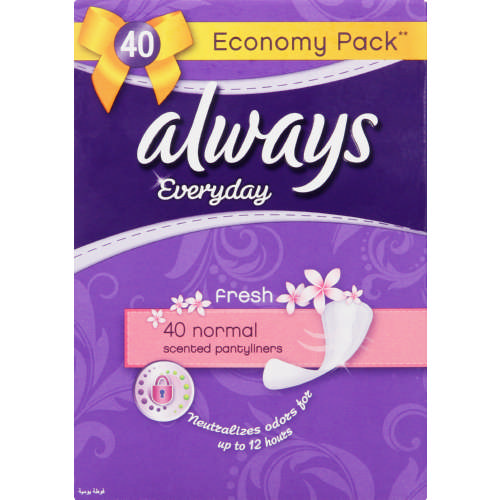 Everyday Scented Pantyliners Normal 40 Pantyliners
