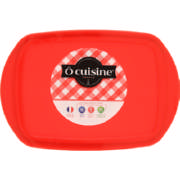 Rectangular Glass Dish & Lid 1.1L