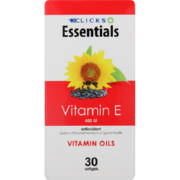 Essentials Vitamin E 30 capsules