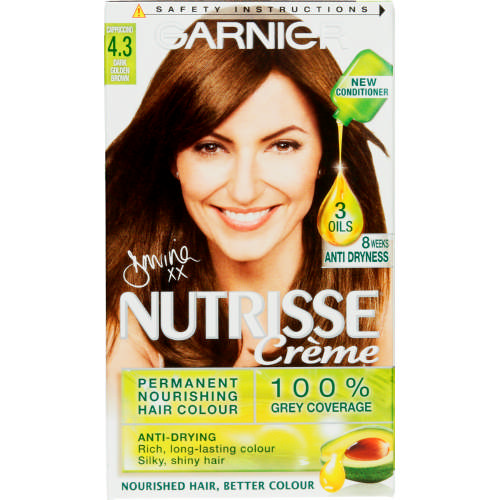 Nutrisse Creme Hair Colour 4.3 Dark Golden Brown 1 Application