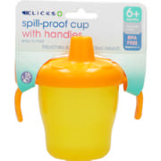 Spill-Proof Cup With Handles