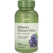 Herbal Plus Standardized Bilberry 60mg 100 Capsules