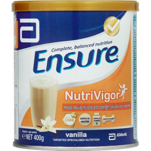 ensure nutrivigor vanilla 400g clicks. Black Bedroom Furniture Sets. Home Design Ideas