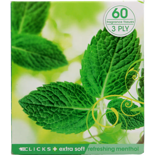 3-Ply Facial Tissues Menthol 60 Tissues