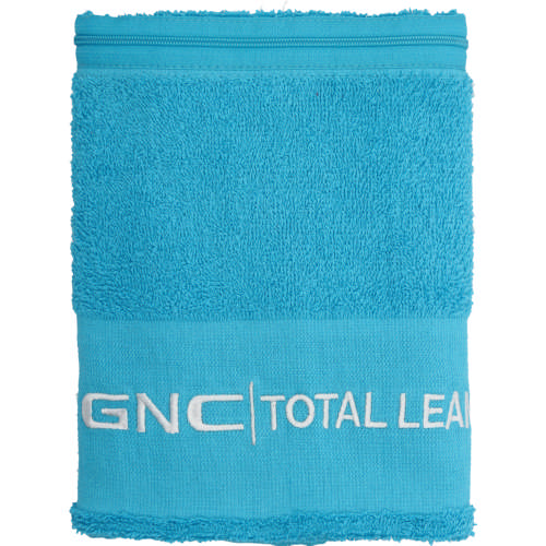 Total Lean Gym Towel With Zip Blue