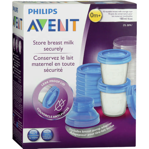 philips avent manual breast pump with via cups