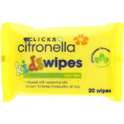 Citronella Kids Wipes 20 Wipes