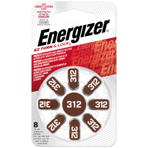 Hearing Aid Batteries 312 8 Pack