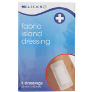 Fabric Island Dressing 50mm x 90mm 3 Pack