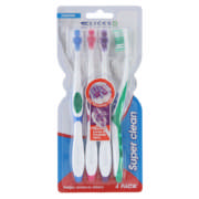 Super Clean Toothbrushes 4 Pack