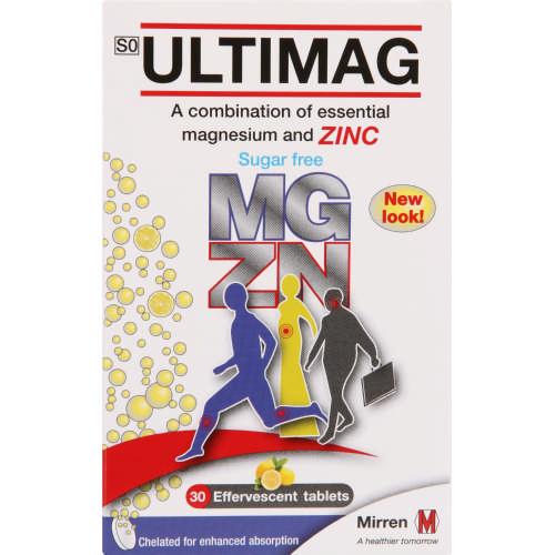 Ultimag Magnesium Zinc 30 Effervescent Tablets Clicks