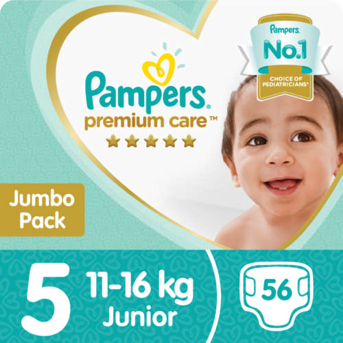 Premium Care Size 5 Jumbo Pack 56 Nappies