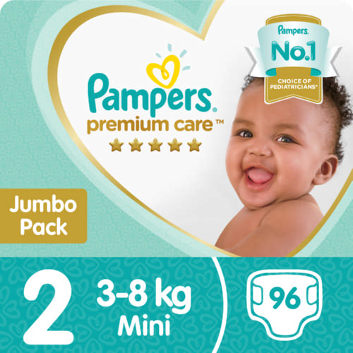 Premium Care Size 2 Jumbo Pack 96 Nappies