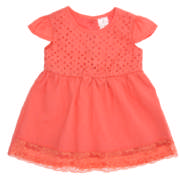 Made 4 Baby Dress Coral 3-6 Months