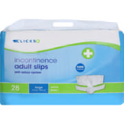 Incontinence Adult Slips Xtra Large 28 Slips