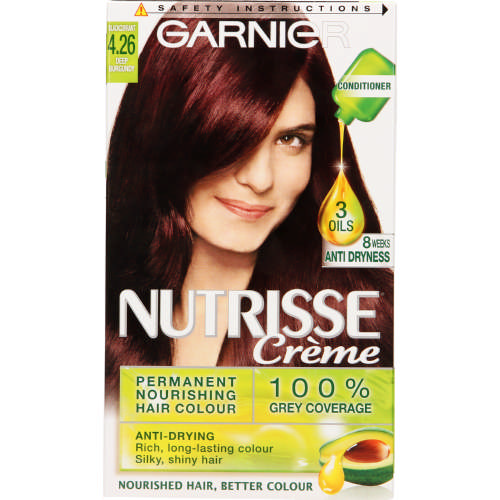 Nutrisse Creme Permanent Nourishing Hair Colour Deep Burgundy 4.26